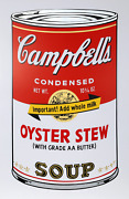 Andy Warhol Campbelland039s Soup Ii Oyster Stew Screenprint Stamped In Blue Verso