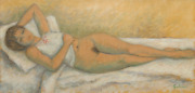 Laurent Marcel Salinas Nude Study 755 Oil On Paper Signed L.r.