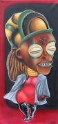 Donald Gladden Original Woman Oil On Canvas Signed