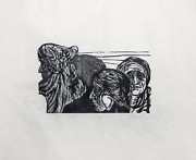 Leonard Baskin The Line Woodcut On Rice Paper Signed And Numbered In Pencil