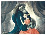 Al Hirschfeld Beauty And The Beast Lithograph Signed And Numbered In Pencil
