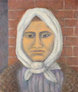 Laurent Marcel Salinas, Woman With White Head Scarf From The Ellis Island Series