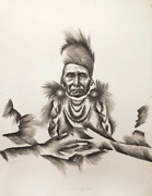 Marisol Escobar Chief Joseph Lithograph Signed And Numbered In Pencil