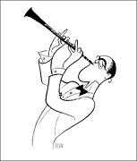 Al Hirschfeld Benny Goodman Lithograph Signed And Numbered In Pencil