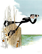 Al Hirschfeld Buster Keaton The Navigator Lithograph Signed And Numbered In