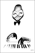 Al Hirschfeld Count Basie Lithograph Signed And Numbered In Pencil