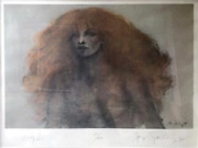 Ramon Santiago Lady Di Screenprint Signed And Numbered In Pencil