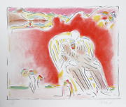 Peter Max The Garden Lithograph Signed And Numbered In Pencil