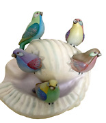 Sergio Bustamante Snail No. 4 With Birds Painted Ceramic Sculpture Signed