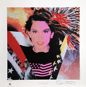 Ronnie Cutrone Cindy Crawford Screenprint Signed And Numbered In Pencil With