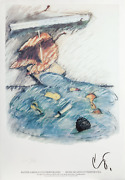 Claes Oldenburg Leaf Boat Storm In The Studio Lithograph Signed In The Plate