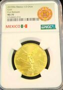 2019 Mexico Gold Libertad 1/2 Onza Ngc Ms 70 First Releases Scarce Perfection