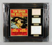 1943 For Whom The Bell Tolls Signed Cut 25x28.5 Display - Jsa Full Loa