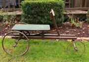 Antique 4 Wheel Push Pull Riding Toy Car With Gears
