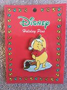Disney Jerry Leigh Holiday 2006 Series Santa Winnie The Pooh Glitter Pin Le