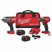 Milwaukee 2988-22 M18 Fuel 3/8 Mid Torque And 1/2 High Torque Impact Wrench Kit
