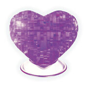 New - Areyougame.com 3d Crystal Puzzle - Heart Purple 46 Pcs - Ages 12+