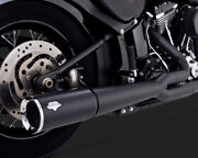 Vance And Hines Pro Pipe Exhaust System Black For Harley Heritage Softail 2012-17