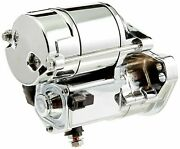 All Balls 1.4kw Chrome Electric Starter Motor For Harley Low Rider 1989-1992