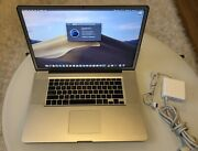 Macbook Proandnbsp17 2009 2.66 Ghz Ddr3 4gb Solid State Drive Ssd 240gb Mojave Os