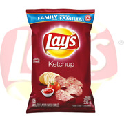 4 Bags Canadian Lays Ketchup Chips Family Size 235g