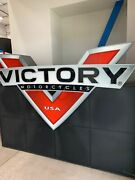 Large Victory Brand Motorcycle Display Box With Logo On One Side