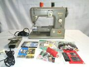 Vintage 1957 Pfaff 332 Sewing Machine Germany Made With Accessories Series 75845