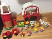 Fisher Price Little People Animal Sounds Farm 2005 Animals Farmer And Tractor
