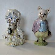 2 Beswick Beatrix Potter Ceramic Figures, 1950's, Pigling Bland, Lady Mouse, 4