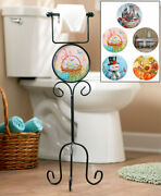 6-pc. Seasonal Toilet Paper Holder Stand New Easy Assembly Great Fun