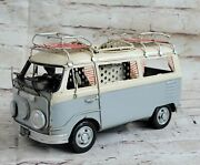 1960s Tin Model 1.18 Scale Camper Van Light Blue, With Surf Boards Gift Deal Art