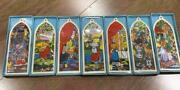 New 1989 Precious Moments Complete Set Stained Glass Church Window Ornaments