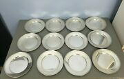 Set 12 Baltimore Silversmiths Mfg Co Sterling Silver Bread Butter Plates 1905