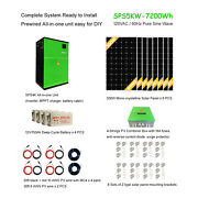 Off-grid Solar Power System, 5kw Inverter, 7.2kwh Battery, 60a Mppt, 2.4kw Pv