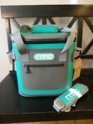 Rtic Cooler 20 Seafoam Teal Soft Pack Softpak Bag Beer Fishing Boat Hopper Nwt