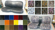 John Deere Gator Bench Xuv 550 Seat Covers 550 S4 In Solid Black Or 25 Colors