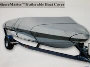 Long-lasting Shore Master 17and039 To19and039 H-duty Trailerable Boat Cover Free Shipping