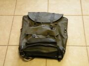 Swiss Army Surplus Rubberized And Leather Backpack