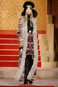 Paris-moscow Pre-fall 2009 Wool Long Cardigan With Shearling Trim 100aut