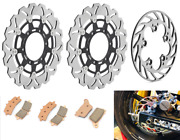 Gsxr 600 750 11-17 Gsx-r 1000 12-15 Front Rear Brake Rotors And Pads For Suzuki