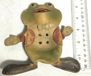 1948 Rempel Mfg Ed Mcconnell 5 Rubber Frog Squeeze/squeak Toy Read Description