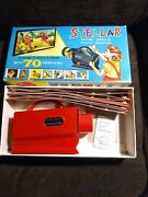 Vintage Toy Stellar Battery Operated Plastic Slide Projector In Original Box 70s