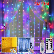 300 Led Window Curtain String Light For Christmas Wedding Party Home Decorations