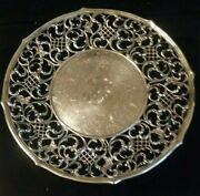 Antique Ornate Floral Boarder Sterling Footed Candy Tray By Bigelow Kennard And Co