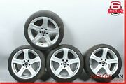 06-11 Mercedes W219 Cls500 9.5x8.5 Staggered Wheel Tire Rim Set Of 4 Pc R18 Oem