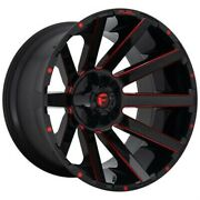 4 New 24x12 Fuel Contra Gloss Black Red Tinted Clear 5x127 D64324205747