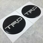 4x Gray Reflect Resin Wheel Center Caps Stickers For Trd 55 Mm Logo Decor Decal
