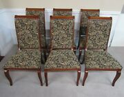 Ethan Allen Dining Chairs Set Of Six Side Chairs Upholstered