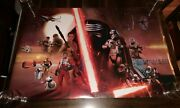Daisy Ridley And Jj Abrams Star Wars Ep 7 The Force Awakens Signed Poster K9 Coa