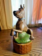 Extremely Rare Hanna Barbera Scooby Doo Good Boy Old Figurine Music Box Statue